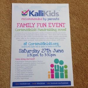 Kallikids Fun day Coramfields 27th June 2015