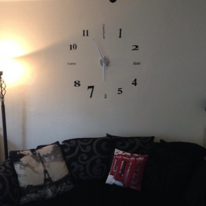 Our new clock numbers and letters