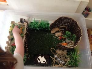 Small world Zoo – Camden childminders getting creative