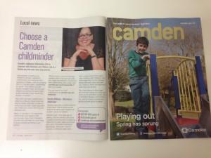 April Camden magazine